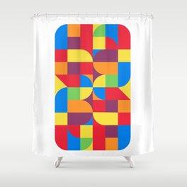 geometric bauhaus dance Shower Curtain