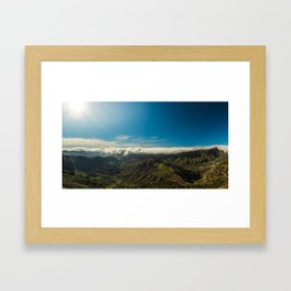 Cloudy landscape Framed Art Print