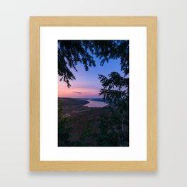 Sunset over Keuka Framed Art Print