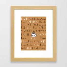Coffee Cafe Subway Art 2.0 Framed Art Print