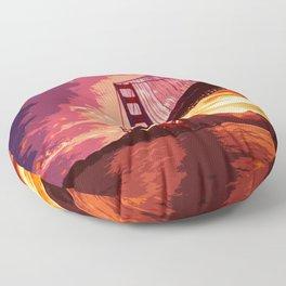 Golden Gate Bridge - San Francisco Floor Pillow