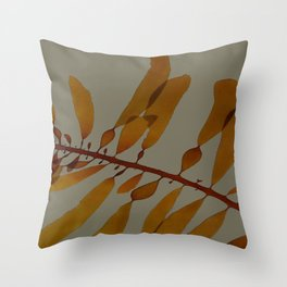 kelp darker Throw Pillow