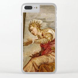 "Tintoretto (Jacopo Robusti) ""The Queen of Sheba and Solomon"" Clear iPhone Case"