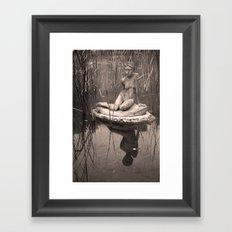 Thinking Framed Art Print