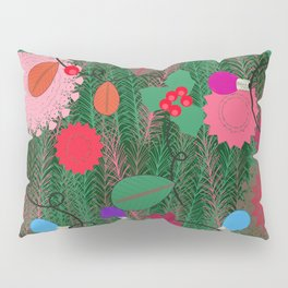 New year lights bulb and pine tree pattern Pillow Sham