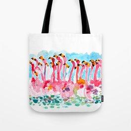 Welcome to Miami - Flamingos Illustration Tote Bag