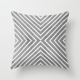 Stripes in Grey Throw Pillow