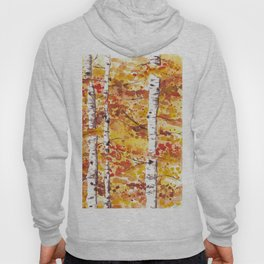 Fall Birch Trees Hoody
