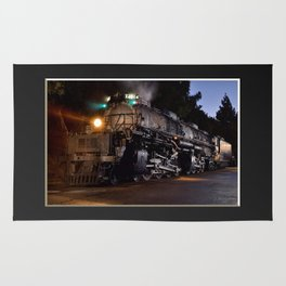 UP 4014. Union Pacific.  Steam Train Locomotive. Big Boy. © J. Montague. Rug