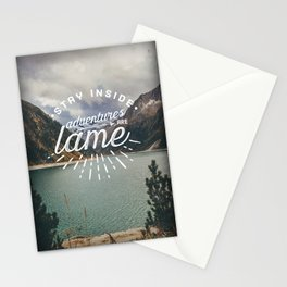 Adventures Are Lame Stationery Cards
