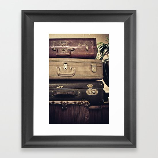 Luggage Framed Art Print
