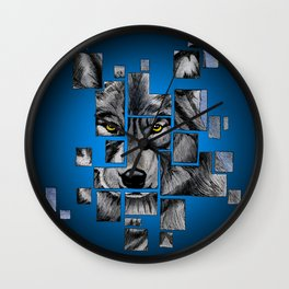 Deconstructed Wolf Wall Clock