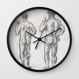 Standing Male Bather; Puget's Atlas Wall Clock