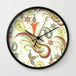 Paisly ornament Wall Clock