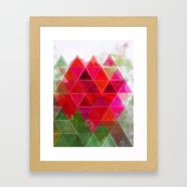 Red Rose Edges Art Triangles 1 Framed Art Print