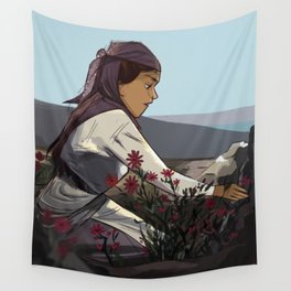 Picking Flowers Wall Tapestry
