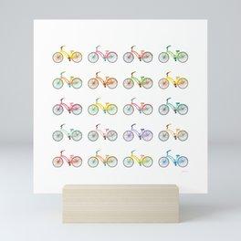 Colorful bikes Mini Art Print