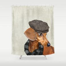 Elegant Mr. Dachshund Shower Curtain