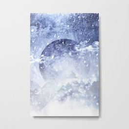 Even mountains get cold Metal Print