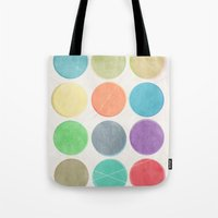 dots Tote Bags featuring dots by Mareike Böhmer