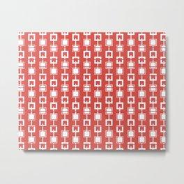 Digital Squares Pattern Metal Print