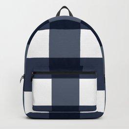 Navy Buffalo Check Backpack