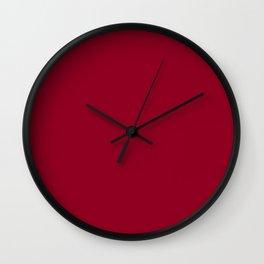 Wine Burgundy Wall Clock
