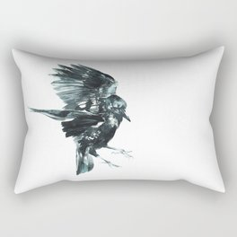 Crow landing Rectangular Pillow