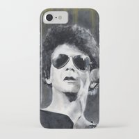 lou reed iPhone & iPod Cases featuring Lou Reed by Vikki Sin