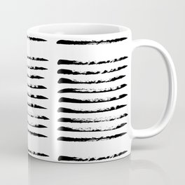 Black squared stripes, hand painted rough texture Coffee Mug