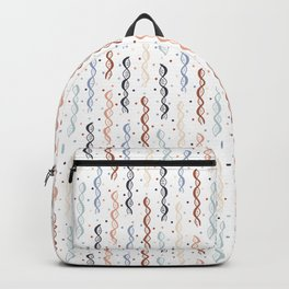 Party DNA on White Backpack