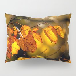 Linden tree leaves in autumn Pillow Sham