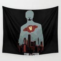 arya stark Wall Tapestries featuring Tony Stark by offbeatzombie