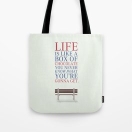 Lab No. 4 - Forrest Gump Movies Inspirational Quotes Poster Tote Bag