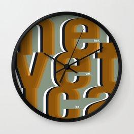 HEL.VET. ICA Wall Clock