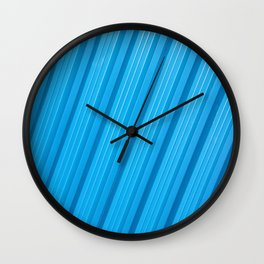 Stripes II - Blue Wall Clock