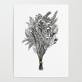 Dry Bouquet with Gold String Poster