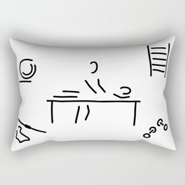 massage physiotherapist Rectangular Pillow