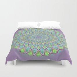Purple Spirograph Mandala 0118 Duvet Cover