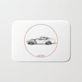 Crazy Car Art 0001 Bath Mat
