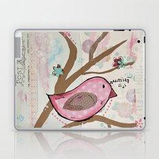 Pink Dream Bird Laptop & iPad Skin