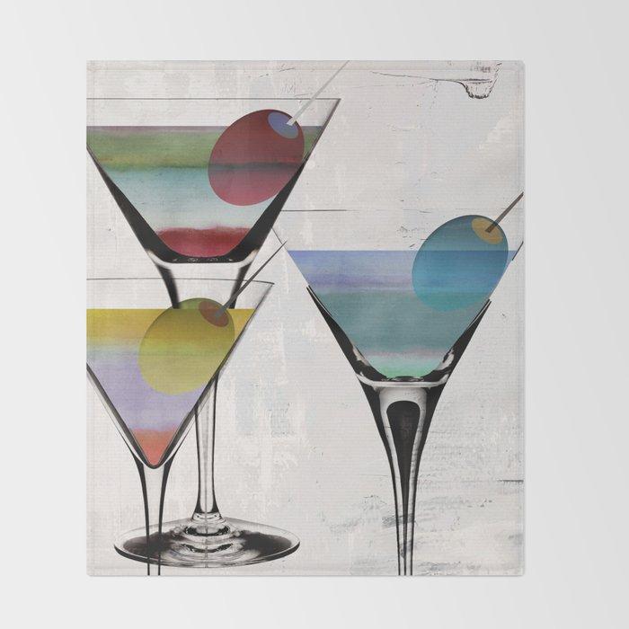 Martini Prism Throw Blanket