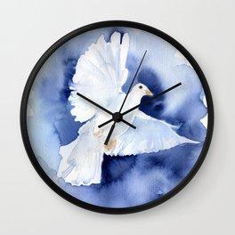 Dove Watercolor Wall Clock
