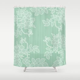 SPRING IN GREEN Shower Curtain