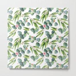 Bamboo and eucaliptus pattern Metal Print