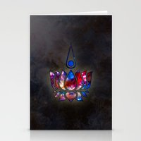 lotus Stationery Cards featuring Lotus by Spooky Dooky