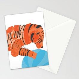 Robot Tiger Stationery Cards