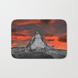 Matterhorn of Zermatt, Switzerland at sunset Bath Mat