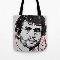 will graham Tote Bags featuring Will Graham Clock - Hannibal by Soyarts
