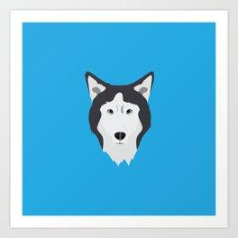 Lance Bright Blue Art Print